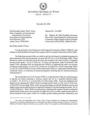 Primary view of Texas Attorney General Opinion: GA-0497