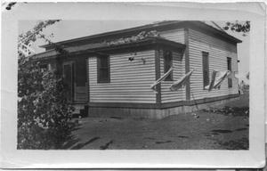 Primary view of object titled '[House With Storm Debris, 1918]'.