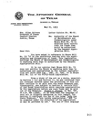 Primary view of object titled 'Texas Attorney General Opinion: MS-42'.