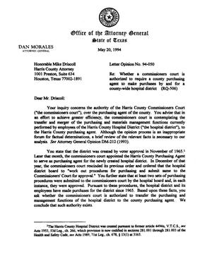 Primary view of object titled 'Texas Attorney General Opinion: LO94-050'.