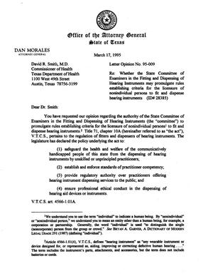 Primary view of object titled 'Texas Attorney General Opinion: LO95-009'.