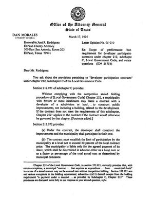 Primary view of object titled 'Texas Attorney General Opinion: LO95-010'.