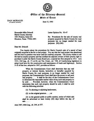 Primary view of object titled 'Texas Attorney General Opinion: LO93-047'.