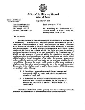 Primary view of object titled 'Texas Attorney General Opinion: LO93-079'.