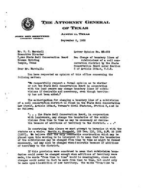 Primary view of object titled 'Texas Attorney General Opinion: MS-232'.
