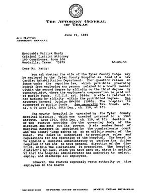 Primary view of object titled 'Texas Attorney General Opinion: LO89-50'.