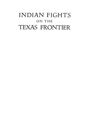 Primary view of object titled 'Indian Fights on the Texas Frontier'.