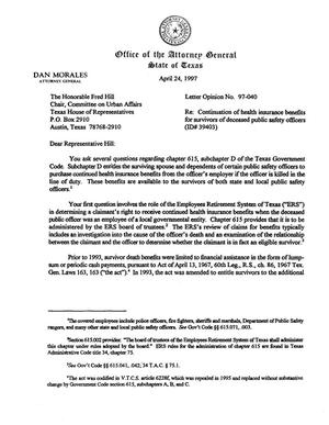Primary view of object titled 'Texas Attorney General Opinion: LO97-040'.