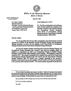 Primary view of object titled 'Texas Attorney General Opinion: LO97-045'.