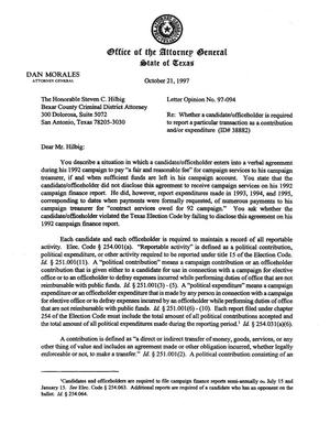 Primary view of object titled 'Texas Attorney General Opinion: LO97-094'.