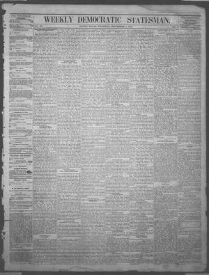 Primary view of object titled 'Weekly Democratic Statesman. (Austin, Tex.), Vol. 3, No. 6, Ed. 1 Thursday, September 4, 1873'.