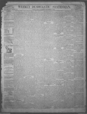 Primary view of object titled 'Weekly Democratic Statesman. (Austin, Tex.), Vol. 3, No. 8, Ed. 1 Thursday, September 18, 1873'.
