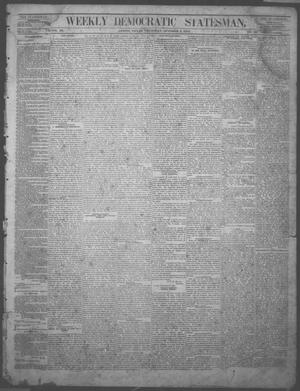 Primary view of object titled 'Weekly Democratic Statesman. (Austin, Tex.), Vol. 3, No. 10, Ed. 1 Thursday, October 2, 1873'.