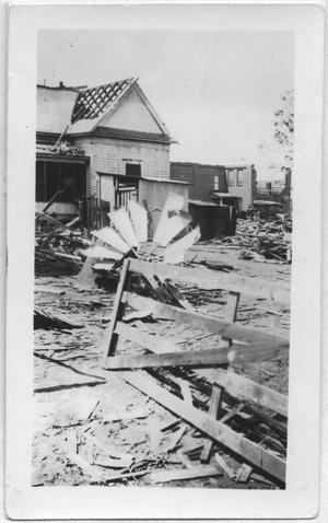 Primary view of object titled '[McCarson House After 1918 Tornado]'.
