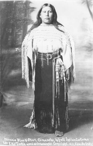 Primary view of object titled 'Minnie Black, Comanche in Full Indian Costume'.