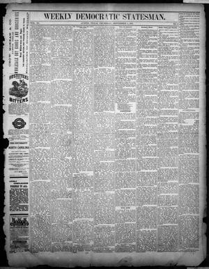 Primary view of object titled 'Weekly Democratic Statesman. (Austin, Tex.), Vol. 11, No. 5, Ed. 1 Thursday, September 1, 1881'.