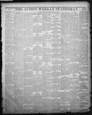 Primary view of object titled 'The Austin Weekly Statesman. (Austin, Tex.), Vol. 12, No. 45, Ed. 1 Thursday, July 19, 1883'.
