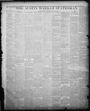 The Austin Weekly Statesman. (Austin, Tex.), Vol. 12, No. 46, Ed. 1 Thursday, July 26, 1883
