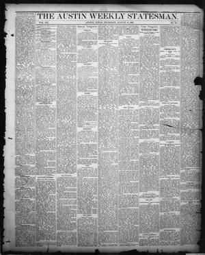 Primary view of object titled 'The Austin Weekly Statesman. (Austin, Tex.), Vol. 12, No. 49, Ed. 1 Thursday, August 16, 1883'.