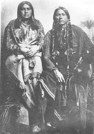 Primary view of object titled 'Quanah Parker and One of His Wives'.
