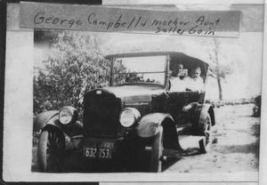 Primary view of object titled '[Photograph of George Campbell and Sally Goin]'.
