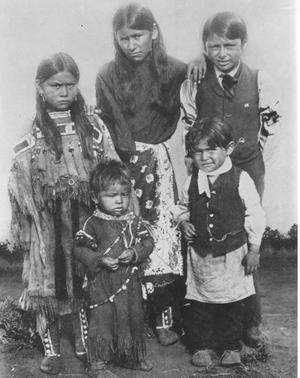 Primary view of object titled 'Some of the Quanah Parker's Children'.