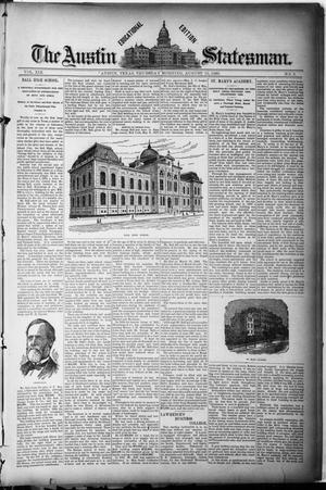 Primary view of object titled 'The Austin Statesman. (Austin, Tex.), Vol. 19, No. 9, Ed. 2 Thursday, August 15, 1889'.