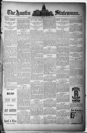 Primary view of object titled 'The Austin Statesman. (Austin, Tex.), Vol. 19, No. 36, Ed. 1 Thursday, September 26, 1889'.