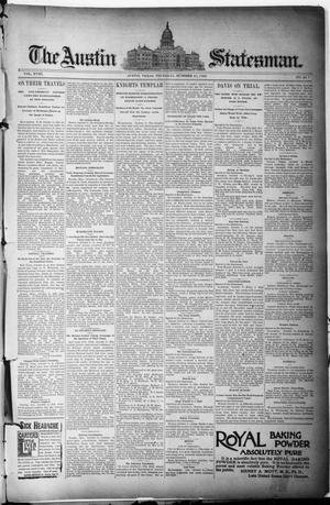 Primary view of object titled 'The Austin Statesman. (Austin, Tex.), Vol. 18, No. 44, Ed. 1 Thursday, October 10, 1889'.