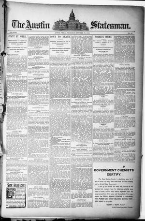 Primary view of object titled 'The Austin Statesman. (Austin, Tex.), Vol. 18, No. 45, Ed. 1 Thursday, October 17, 1889'.