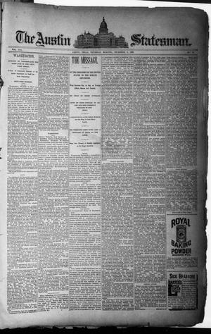 Primary view of object titled 'The Austin Statesman. (Austin, Tex.), Vol. 19, No. 53, Ed. 1 Thursday, December 5, 1889'.