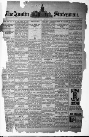 Primary view of object titled 'The Austin Statesman. (Austin, Tex.), Vol. 19, No. 3, Ed. 1 Thursday, December 26, 1889'.