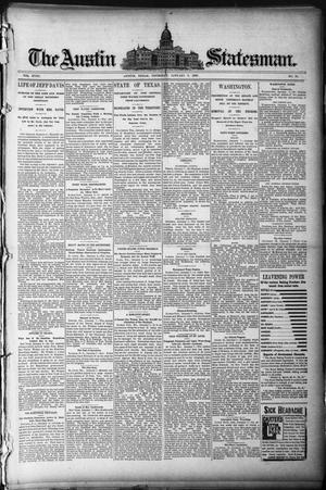 The Austin Statesman. (Austin, Tex.), Vol. 18, No. 55, Ed. 1 Thursday, January 9, 1890