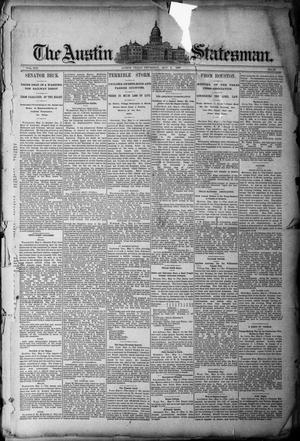 Primary view of object titled 'The Austin Statesman. (Austin, Tex.), Vol. 19, No. 49, Ed. 1 Thursday, May 8, 1890'.