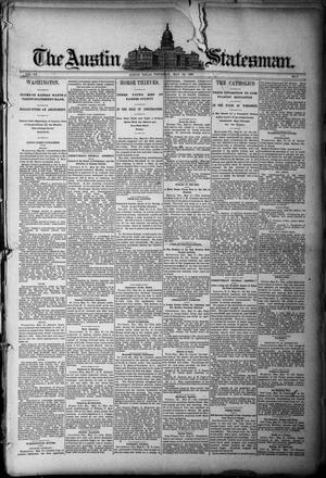 Primary view of object titled 'The Austin Statesman. (Austin, Tex.), Vol. 20, No. 2, Ed. 1 Thursday, May 29, 1890'.