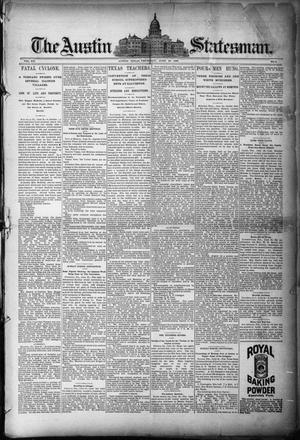 Primary view of object titled 'The Austin Statesman. (Austin, Tex.), Vol. 20, No. 4, Ed. 1 Thursday, June 26, 1890'.