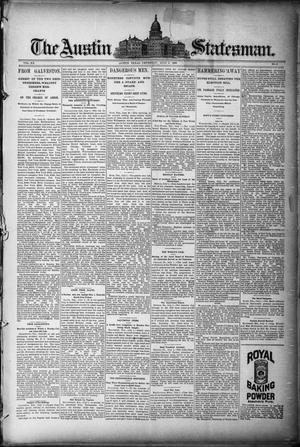 Primary view of object titled 'The Austin Statesman. (Austin, Tex.), Vol. 20, No. 6, Ed. 1 Thursday, July 3, 1890'.