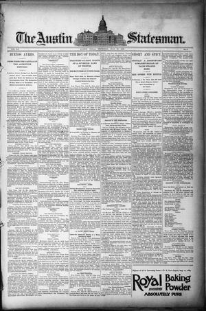 Primary view of object titled 'The Austin Statesman. (Austin, Tex.), Vol. 20, No. 8, Ed. 1 Thursday, July 31, 1890'.