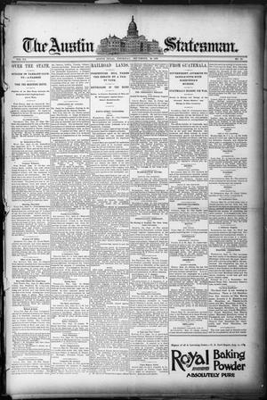 Primary view of object titled 'The Austin Statesman. (Austin, Tex.), Vol. 20, No. 15, Ed. 1 Thursday, September 18, 1890'.