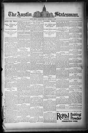 Primary view of object titled 'The Austin Statesman. (Austin, Tex.), Ed. 1 Thursday, December 11, 1890'.