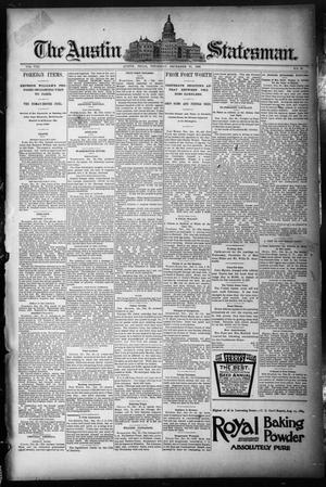 Primary view of object titled 'The Austin Statesman. (Austin, Tex.), Vol. 8, No. 29, Ed. 1 Thursday, December 25, 1890'.