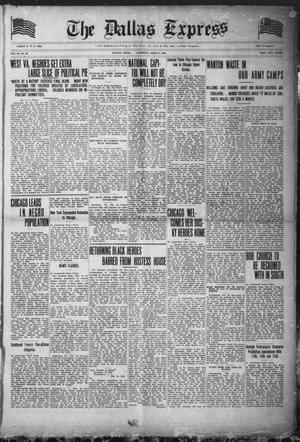 The Dallas Express (Dallas, Tex.), Vol. 26, No. 20, Ed. 1 Saturday, March 1, 1919