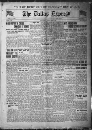Primary view of object titled 'The Dallas Express (Dallas, Tex.), Vol. 26, No. 24, Ed. 1 Saturday, March 29, 1919'.
