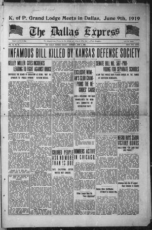 The Dallas Express (Dallas, Tex.), Vol. 26, No. 34, Ed. 1 Saturday, June 7, 1919
