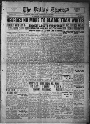 The Dallas Express (Dallas, Tex.), Vol. 26, No. 51, Ed. 1 Saturday, October 4, 1919