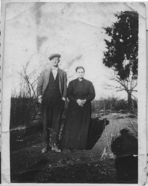 Primary view of object titled '[Photograph of Arthur Harmon & Granny Rachel]'.