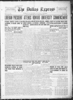 Primary view of The Dallas Express (Dallas, Tex.), Vol. 28, No. 37, Ed. 1 Saturday, June 18, 1921