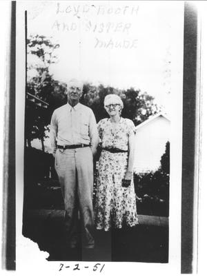Primary view of object titled 'Loyd Booth and His Sister, Maude'.