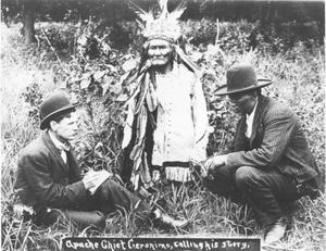 Primary view of object titled 'Apache Leader Geronimo, Telling His Story'.