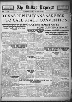 The Dallas Express (Dallas, Tex.), Vol. 31, No. 16, Ed. 1 Saturday, March 1, 1924